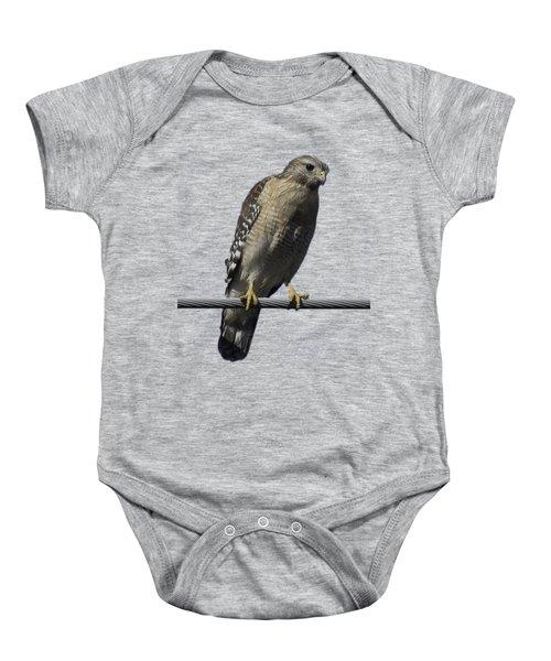 Red-shouldered Hawk Transparency Baby Onesie