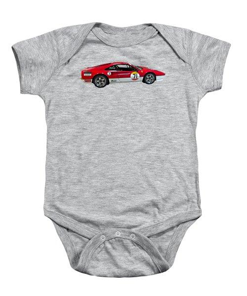 Red Sports Racer Art Baby Onesie