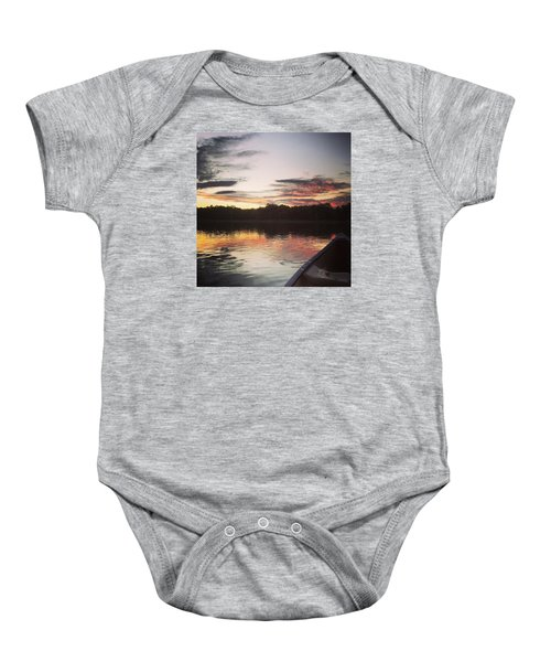 Red Spotted Sunset Baby Onesie