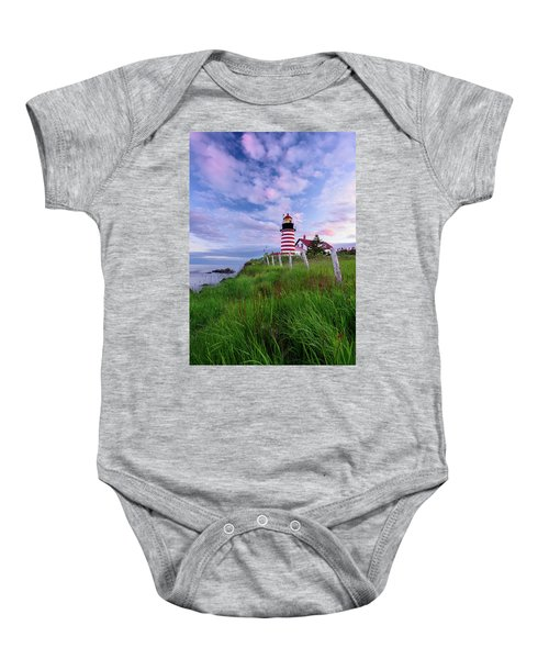 Red, White And Blue - Vertical Baby Onesie