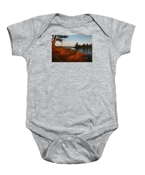 Red Wild Grass Georgian Bay Baby Onesie