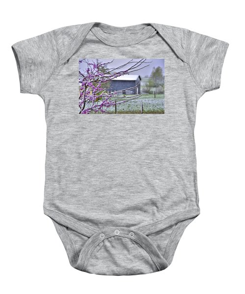 Redbud Winter Baby Onesie