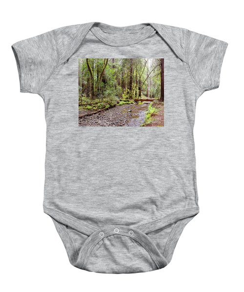 Redwood Creek Flowing Through Muir Woods National Monument - Mill Valley Marin County California Baby Onesie