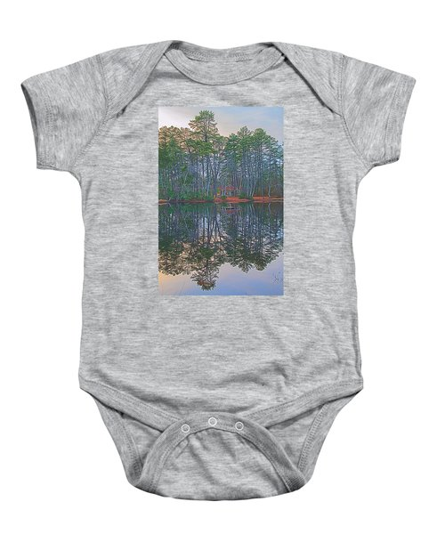 Reflections In The Pines Baby Onesie