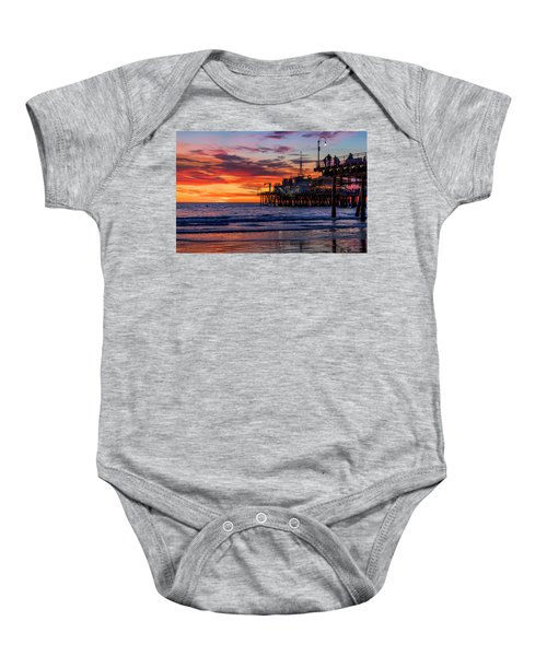 Reflections Of The Pier Baby Onesie