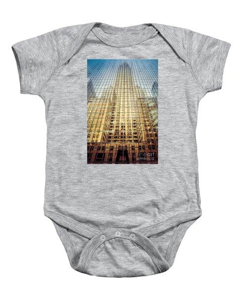 Reflective Empire Baby Onesie