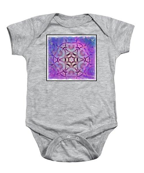 Reiki Infused Healing Hands Mandala Baby Onesie