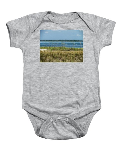 Relaxing On The Island Baby Onesie