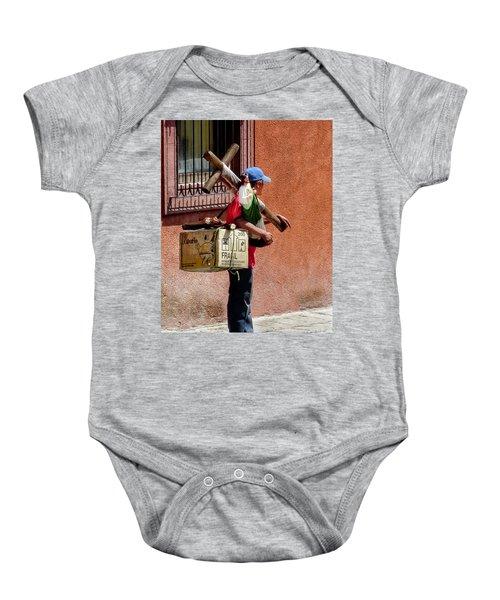 Religious Art Salesman Baby Onesie