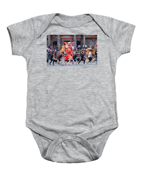 Religious Martial Arts Performance In Taiwan Baby Onesie