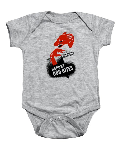 Report Dog Bites - Wpa Baby Onesie