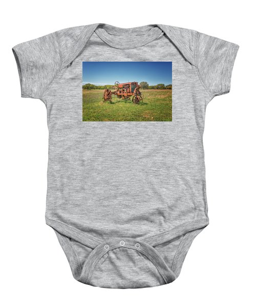 Retired Tractor Baby Onesie