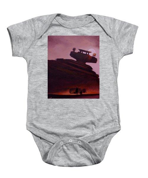 Rey Looks On Baby Onesie