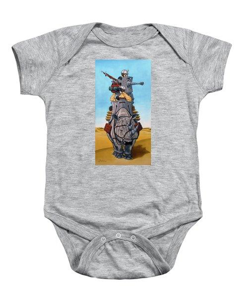 Rhinoceros Riders Baby Onesie