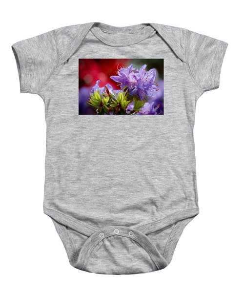 Rhododendron Bluebird Baby Onesie