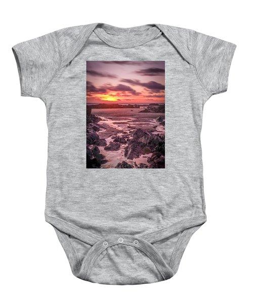 Rhosneigr Beach At Sunset Baby Onesie