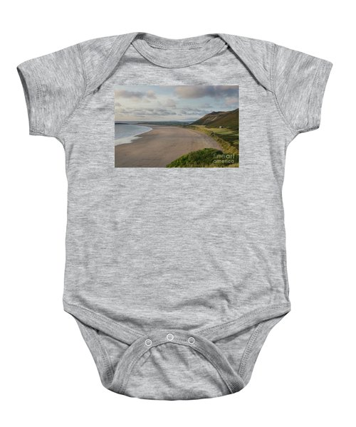Rhossili Bay, South Wales Baby Onesie