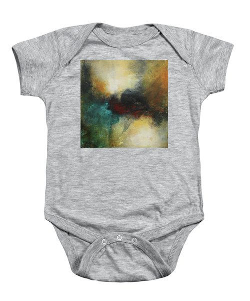 Rich Tones Abstract Painting Baby Onesie