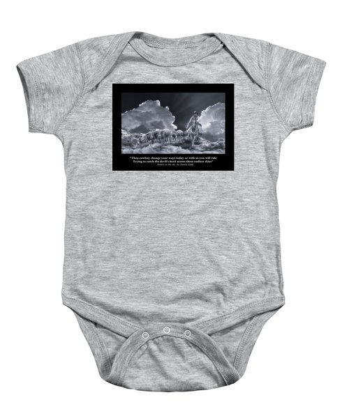 Riders In The Sky Bw Baby Onesie