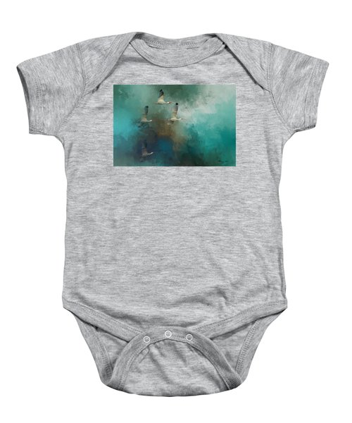 Riding The Winds Baby Onesie by Marvin Spates