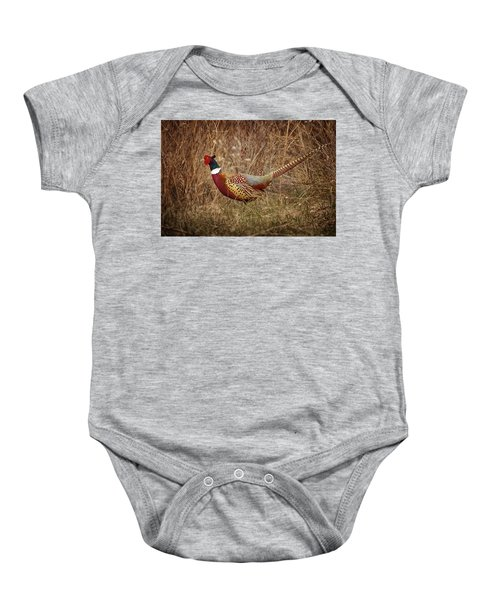 Ring Necked Pheasant Baby Onesie
