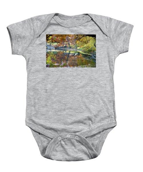 Ripples In An Autumn Lake Baby Onesie