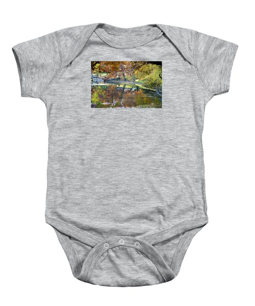 Ripples In An Autumn Lake Baby Onesie
