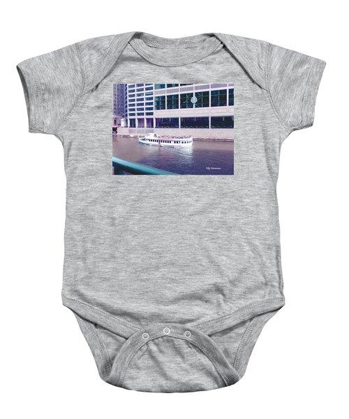 River Boat Tour Baby Onesie
