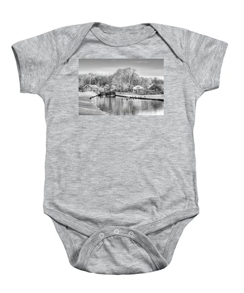 River In The Snow Baby Onesie