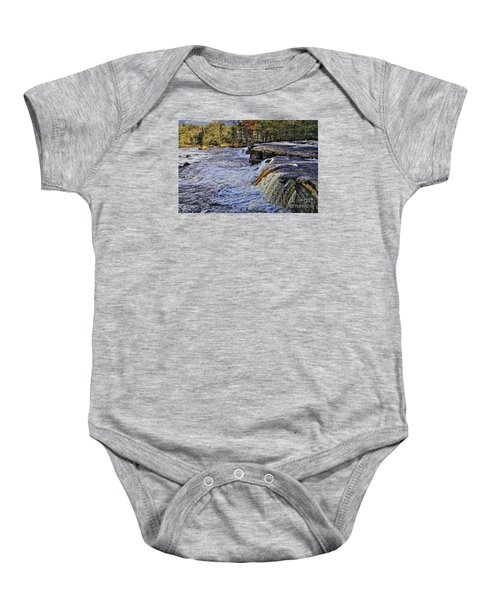 River Swale At Richmond Yorkshire Baby Onesie