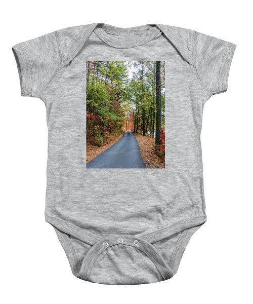 Road In The Woods Baby Onesie