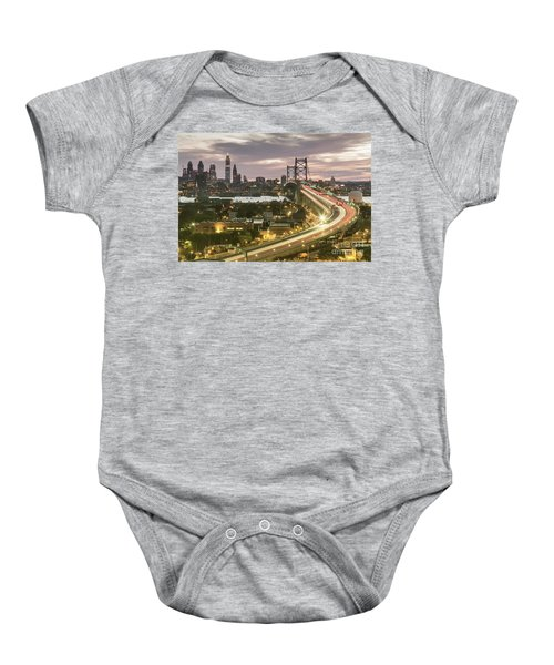 Road To Brotherly Love Baby Onesie