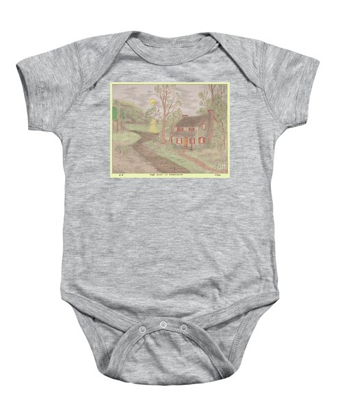 Road To Happiness Baby Onesie