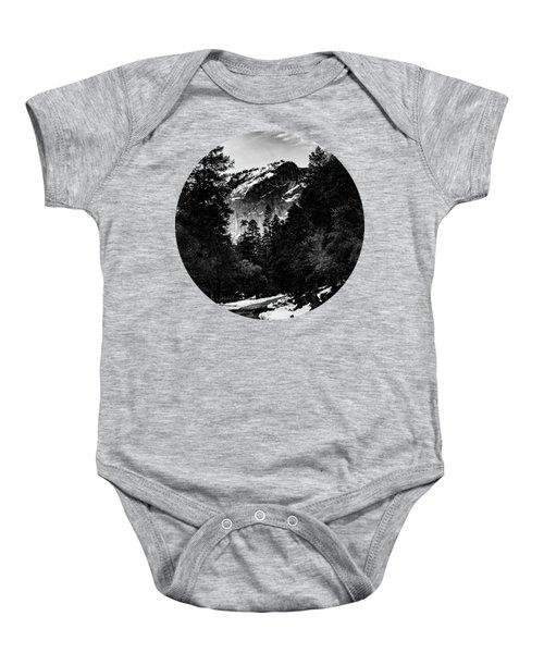 Road To Wonder, Black And White Baby Onesie by Adam Morsa