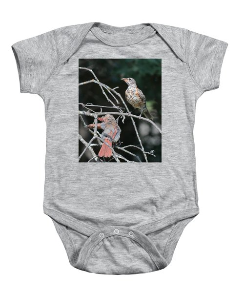 Robin And Cardinal 2664 Baby Onesie