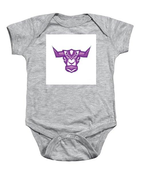 Robot Yak Bull Head Front Baby Onesie