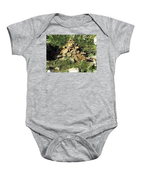 Rocky Mountain Cairn Baby Onesie