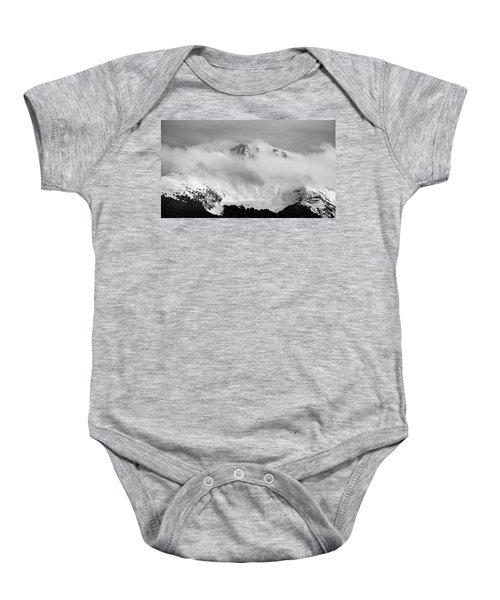 Rocky Mountain Snowy Peak Baby Onesie