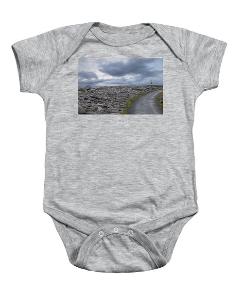 Rocky Road To The Lighthouse Baby Onesie