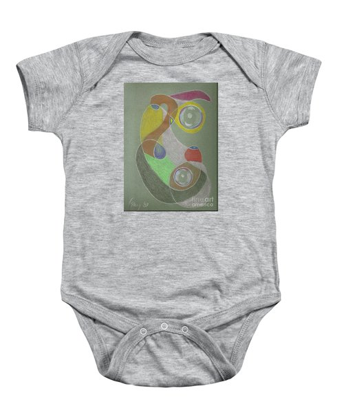Roley Poley Vertical Baby Onesie by Rod Ismay