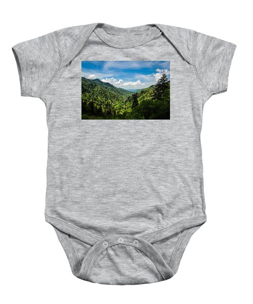 Rolling Mountains Baby Onesie