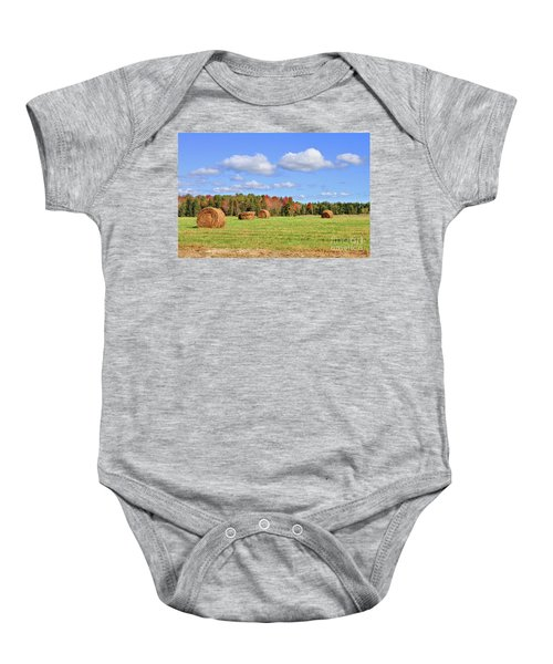 Rolls Of Hay On A Beautiful Day Baby Onesie
