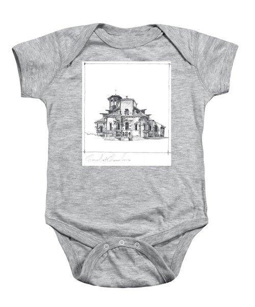 Roman Church At Chamalieres Baby Onesie