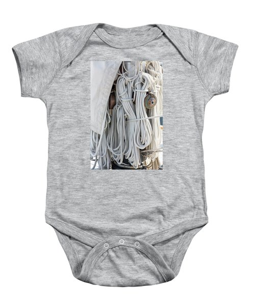 Ropes Of A Sailboat Baby Onesie
