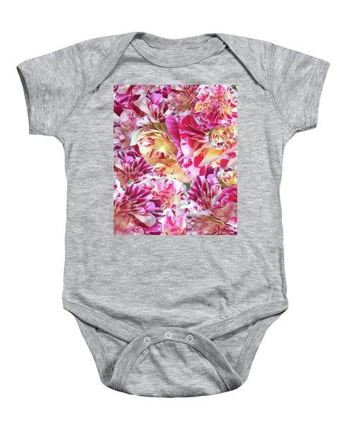 Rose Collage Baby Onesie