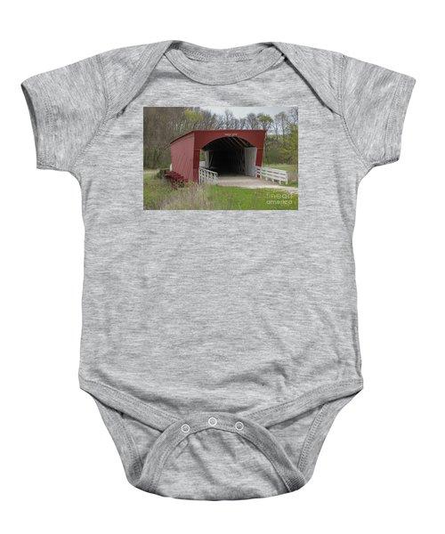 Roseman Covered Bridge - Madison County - Iowa Baby Onesie
