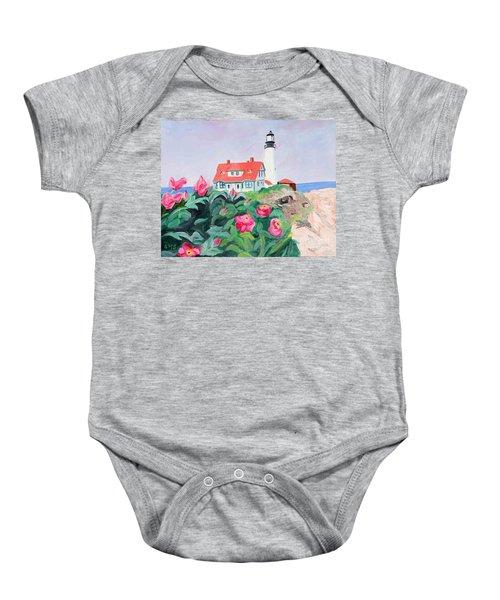 Roses At Portland Headlight Baby Onesie