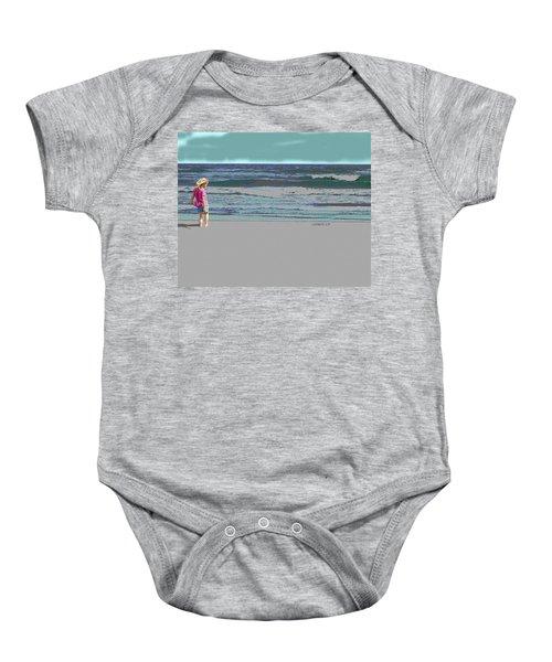 Rosie On The Beach Baby Onesie