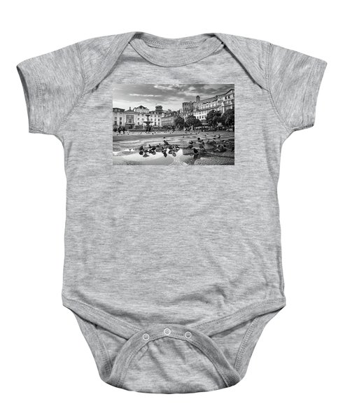 Rossio Square In Downtown Lisbon Baby Onesie