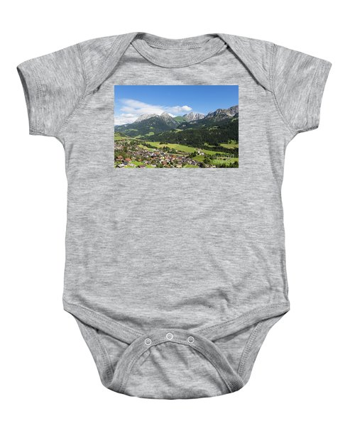 Rougemont Village In Switzerland Baby Onesie
